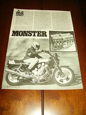 1978 HONDA CBX  ***ORIGINAL ARTICLE*** MONSTER