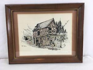 Paul E Gray Cripple Creek Mine 12x16 Rustic Frontier Artwork 50/75 Signed Print