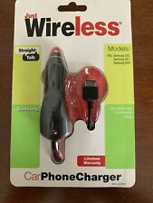 JUST WIRELESS SAMSUNG 255 401 R451 MOBILE PHONE CHARGER FITS CAR CHARGER