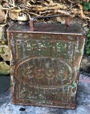 ESSO Vintage 1938 2 Gallon Petroleum Spirit Oil Can  Brass Cap
