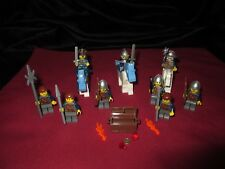 LEGO Castle  Minifigures LOT King , Knight ,Soldiers,Weapons,Armor .