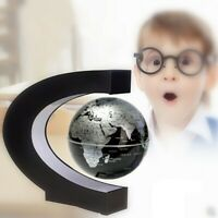 Magnetic Floating Globe Levitation Rotating C-Shape LED Light World Map Decor