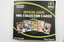 2009 Rugby League Telegraph set of 240 cards & album plus 131 parallel foils