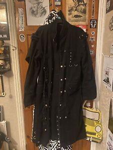Criminal Damage Jacket Size XL Gothic Long Coat Steampunk