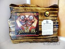 Handmade Wooden Weyerbacher Double IPA Craft Beer Single Cap Bar Sign 2017
