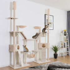 Large Cat Tree Multilevel Activity Tower Condo W/ Hammock Scratching Post Ropes