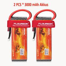 2PCS RC Akkus 3000mAh Floureon3S 11.1V 30C Li-po Batterie Deans Plug RC Car Boat