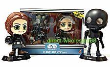 Hot Toys Star Wars Rogue One jyn & K-2SO Bobble-Head cosbaby k2so (damage box)