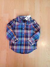 Ralph Lauren Girl's Blue Multi  Shirt For 4 Years BNWT