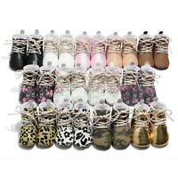 Newborn Toddler Baby Girls Boys Warm Boots First Walkers Soft Sole Shoes Cool AU