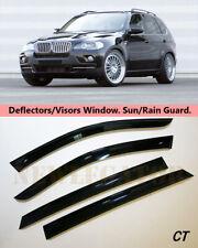 For BMW X5 (E70) 2007-2013 Windows Visors Deflector Sun Rain Guard Vent
