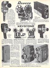 1964 Vintage Ad Revere Keystone Zoom Richomite Sekonic Film Projectors Cameras