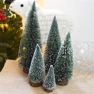White Christmas Tree Mini Cedar Ornaments Party Dolls House Miniature FI