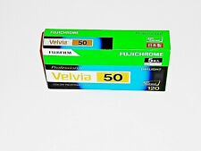 1 x Roll FUJI VELVIA 50--MEDIUM FORMAT 120 size--ULTRA  FRESH--expiry: 05/2021