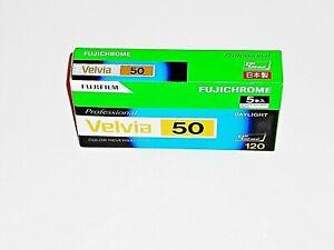 5 x Rolls FUJI VELVIA 50--MEDIUM FORMAT 120 size--ULTRA  FRESH--expiry: 08/2021