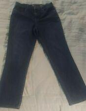 Style & Co Womens Jeans Size 12 Straight Leg Med / Dark Wash Denim Pants