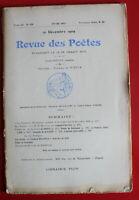 1909 - Revue des Poètes - N° 139 - J.-R. de Brousse, E. de la Sauge, L. Gaulard