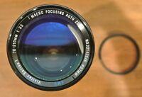 Vivitar Series 1 Macro Focusing Auto Zoom 70-210mm 1:3.5 Lens Made in Japan