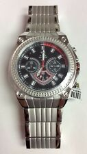 AQUA MASTER Men's Boudry Series Stainless Steel 0.12 Diamond Chronograph WATCH