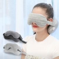 Neck Pillow & Eye Mask Portable Travel Head Neck Cushion Airplane Flight Sleep