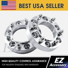"""2 Hub Centric Wheel Adapters 6x5.5 Spacers 1.25"""" Frontier Pathfinder Xterra"""