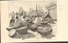 Drum Menelik II negus Shewa Abba Dagnew Ethiopia  FRANCE GRAVURE OLD PRINT 1901