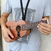 Adjustable Black Four String Guitar Belt Nylon Guitar Ukulele Strap Hook