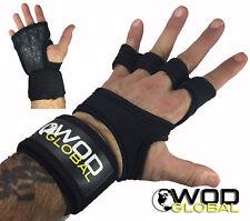 Workout Gloves, Crossfit, Large, Black, Neoprene Padded, Wrist Wraps, WOD Global