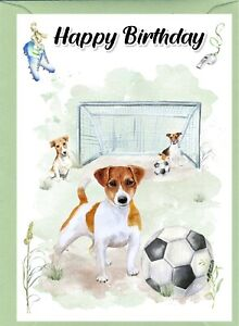 """Jack Russell Terrier Dog (4""""x 6"""") Birthday Card with blank inside - by Starprint"""