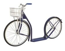 "20"" Adult NAVY BLUE SCOOTER Amish Kick Bike w/ Basket Brakes & Racing Wheels"