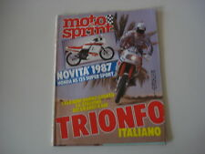 MOTOSPRINT 43/1986 FANTIC TRIAL 301 2/APRILIA AF1 50 AE/CAGIVA WMX 125/MBA GP
