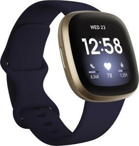 Fitbit Smartwatches Versa 3 midnight/soft gold