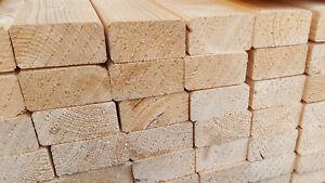 40/60 mm KVH Dachlatten Bauholz Latten trocken gehobelt  4 x 6 cm Holz  C24 S10