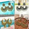Women Charm Indian Jhumka Gypsy Jewelry Gold Boho Vintage Ethnic Drop Earrings