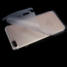 2x iPhone 8 Plus Schutzfolie 3D Carbon Efekt Folie Rückseite Transparent Folie