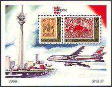 "Mongolia 1996 ""Capex '96""/StampEx/Stamp on Stamp/Plane/Aviation 2v m/s (s2218)"