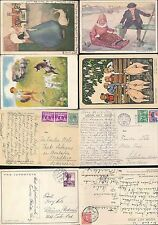 SWITZERLAND + HOLLAND CHILDREN PPCs 1932-39 + ANIMALS...4 ITEMS...ARTIST DRAWN