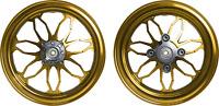 MOS Forged Aluminum Alloy Wheels Set for Honda Grom MSX Monkey 125 ABS Golden