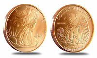 5 Coins • Walking Liberty Half Dollar • 1 oz each .999 Copper Bullion