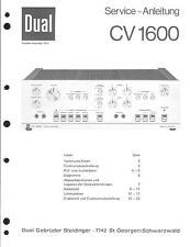 Dual service manual pour CV 1600 entendent supplémentaire