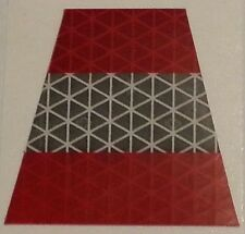 "Red/Silver Refl. 2"" Firefighter Helmet Tetrahedrons (Qty:1), Fire Dept #TE12"
