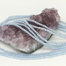 100 pcs 3x2mm Chinese Crystal Glass Beads Faceted Rondelle Baby Blue Agate AB