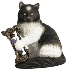 """6"""" Times Up By Lisa Parker Sculpture Magick Statue Magic Cat Time's Hour Glass"""