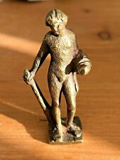 Antique  Nude Male Wax Seal Desk Top   FRENCH brass