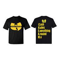 Hip Hop Legends Wu-Tang Cream Logo Unisex Classic Black T-Shirt - Multiple Sizes