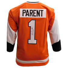 Bernie Parent Autographed Orange Hockey Jersey (JSA COA)