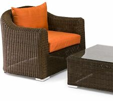 SALE! SALE! High Quality Large Outdoor Rattan Wicker Chairs x 2 and Coffee Table