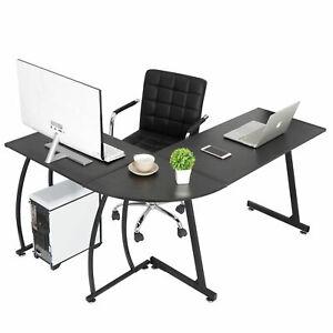 Extra Large L-shaped Desk Computer Desk Corner PC Workstation Table Home Office