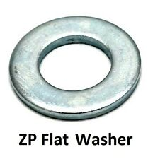 "Qty 100 Flat Washer 3/8"" x 1 x 16g Imperial Round Steel Zinc Plated ZP"