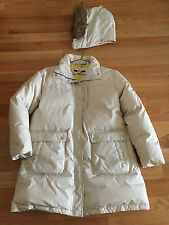 Women's Ivory Hooded Puffer Coat DKNY by DONNA KARAN  New York Size XL